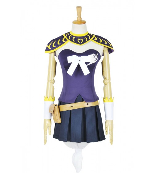 Fairy Tail Cosplay Lucy Heartfilia Kostüme Purpur Outfit