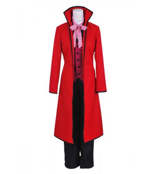 Black Butler Grell Sutcliffe Rot Anzug